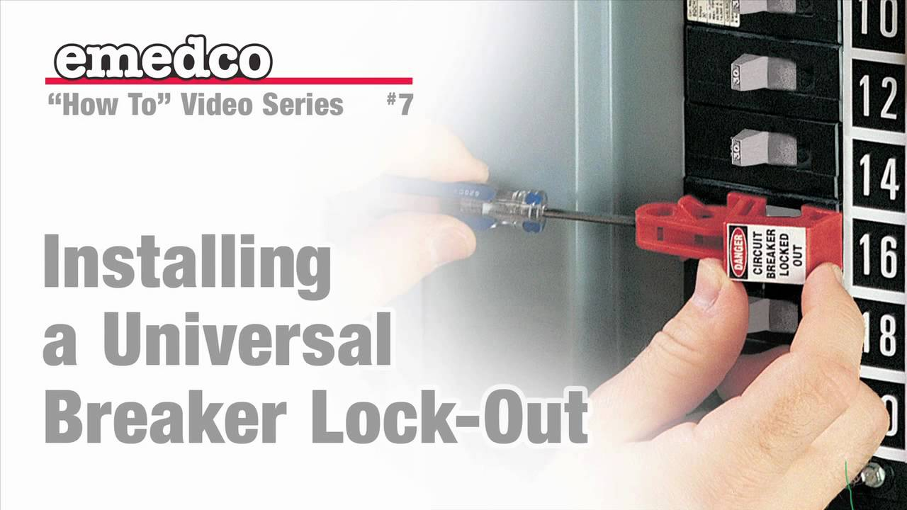 how to install a universal breaker lock out device emedco video youtube [ 1280 x 720 Pixel ]