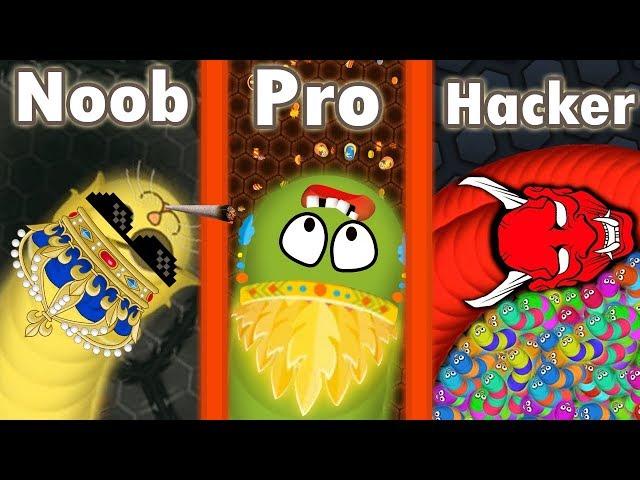 Wormate.io © Noob vs Pro vs Hacker in Wormateio Gameplay ✓
