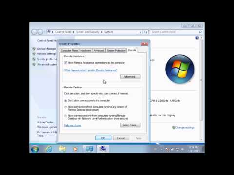 How To Enable Remote Desktop On Windows 7