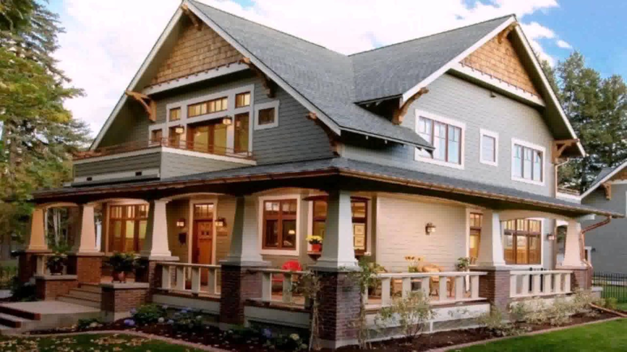 craftsman style house exterior paint colors youtube - Craftsman Home Exterior