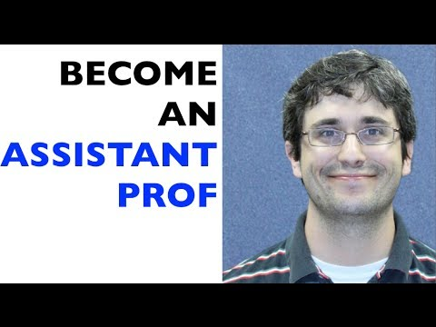 How to become an assistant professor