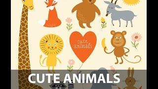 Sevimli karikatür hayvanlar|Video Döngüsü Animasyon ile A'dan Z'ye alfabe tasarım ayarlar.