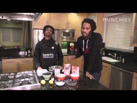 Waka Flocka And Raury In the kitchen Cooks Vegan Blueberry Muffins