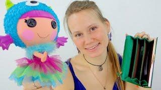 Видео для девочек.  Кукла Лапочка и кошелёк. Куклы Лалалупси.