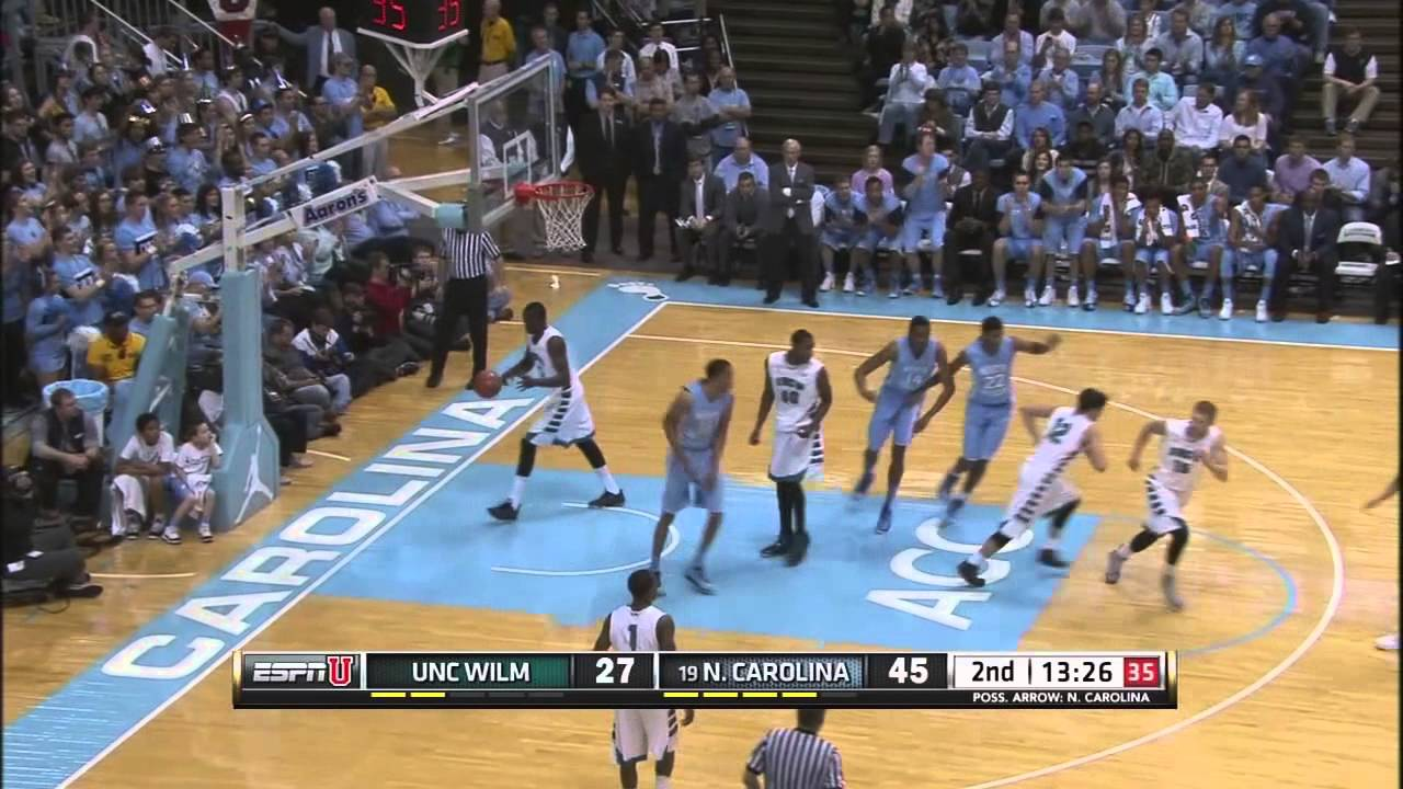 UNC Mens Basketball Highlights Vs UNCW YouTube