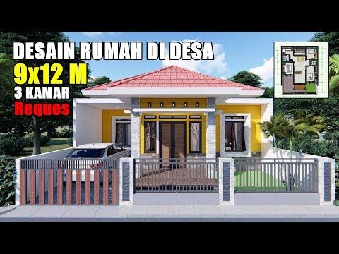 Desain Rumah Minimalis Ukuran 9x12  desain rumah 8x10 3 kamar ada tempat fitnessnya youtube