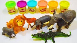 Животные ПЛАНЕТЫ пластилин ПЛЕЙ ДО игрушки для детей ВИДЕО про животных и яркие цвета