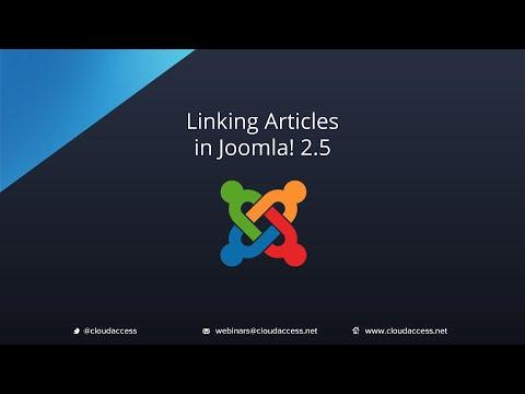 Linking Articles (Joomla 2.5)