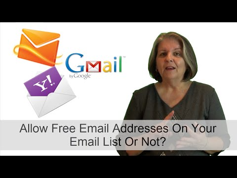 Should You Allow Email Subscribers With Free Accounts On Your Mailing List?