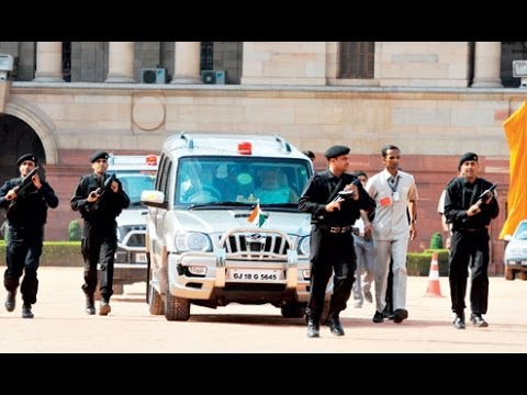 Escort Narendra Modi  Prime Minister Of India Motorcade Modi ji Ka Kafila   SPG Security