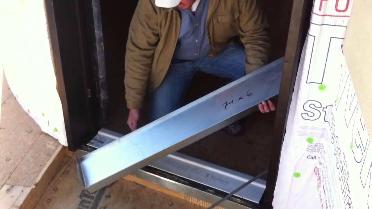 Waterproofing the door threshold  YouTube