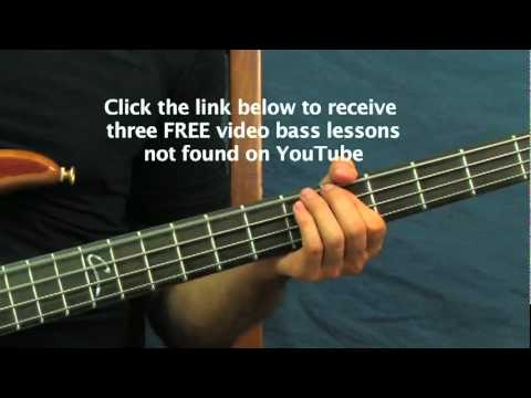 easy bass guitar lesson longview green day