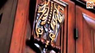San Marco Dark Walnut Large Dining Display Cabinet BAK-EXC-SAN-MARCO-DSET-WAL-4001