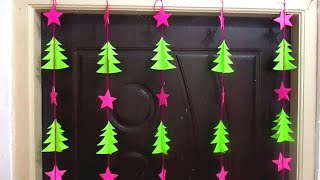 Easy Christmas Tree Door/Wall Hanging Craft Ideas with Paper | Christmas Decorations 2018