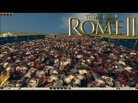 Rome Total War 2 Massive Battles - 4,800 Archers vs 6,500 Melee (Massacre) [Ultra/1080p]
