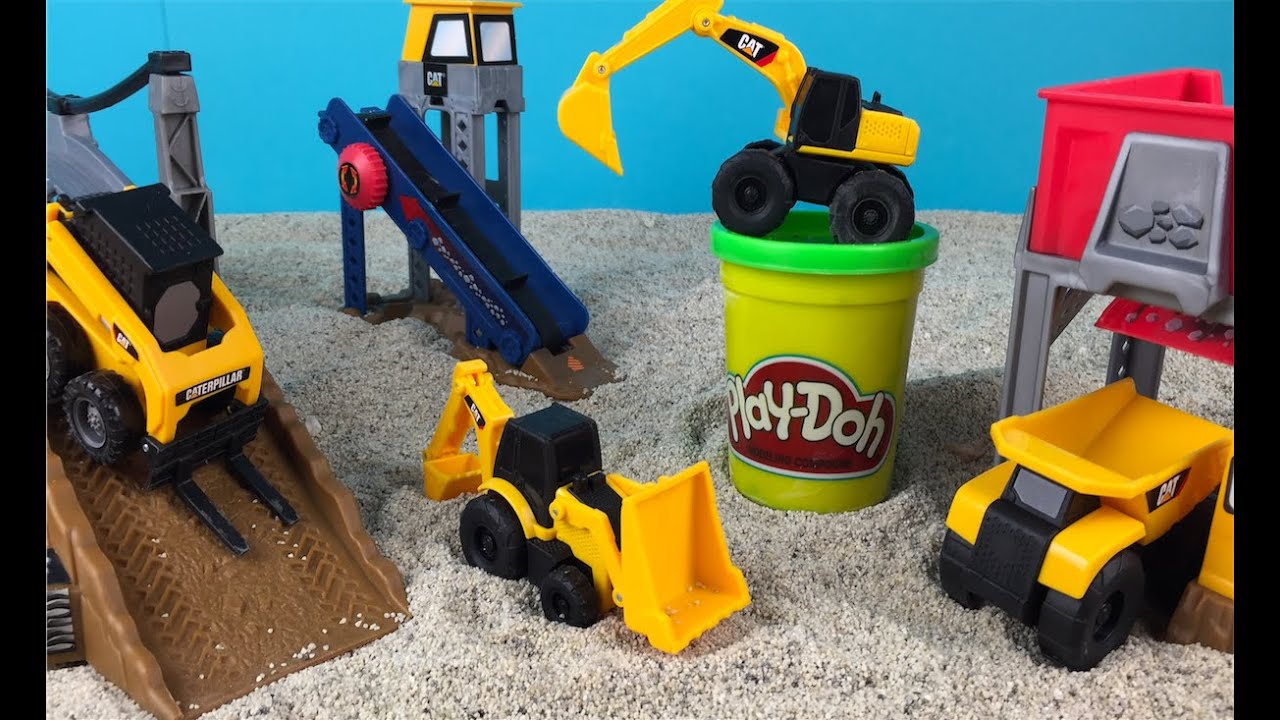 Cat Construction Toys For Toddlers : Playdoh play cat construction playset mini mighty