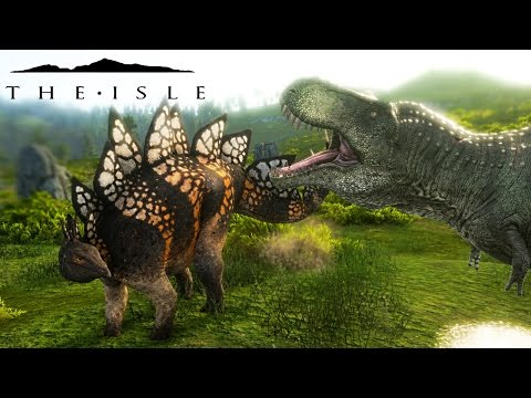 The Isle REALISM - TRIBAL CAVES, EPIC STEGO HERD  FEND OFF R