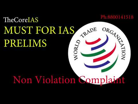 WTO CURRENT PART 2: Non Violation Complaint, Peaace Clause