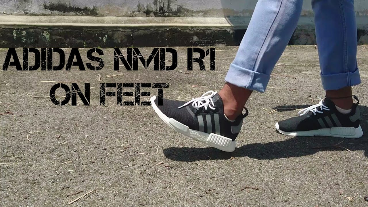 5802b0fee Adidas R1 NMD Mesh Black Charcoal   Lace Swap - YouTube