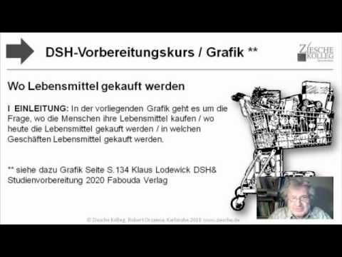 dsh vorbereitung grafikbeschreibung lebensmitteleinkauf wo s youtube - Dsh Prufung Beispiel