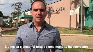 Eduardo Bolsonaro visita Santa Casa de Fernandópolis-SP