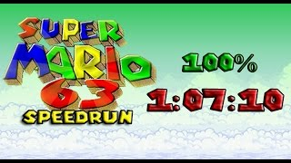 [FWR] Super Mario 63 100% Speedrun in 1:07:10
