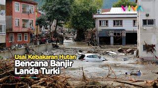 Gelombang Banjir Mematikan Landa Turki, Warga dan Mobil Terseret Tak Berdaya