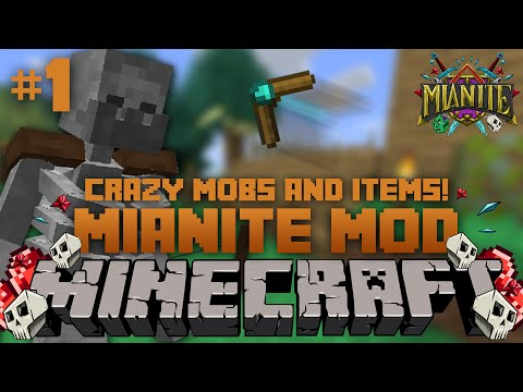 Minecraft Mianite Mod Pack | Ep. 1 | A Thief Skeleton and a Boomerang!!!
