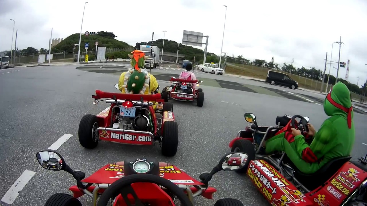 Mario Kart Tokyo >> Real Life Mario Kart in Japan!!! Mari Car Okinawa as Pikachu! マリカー 公道カート 東京街頭試玩 - YouTube