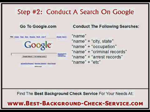 How To Find Criminal Records >> How To Do A Criminal Records Background Check Online Youtube
