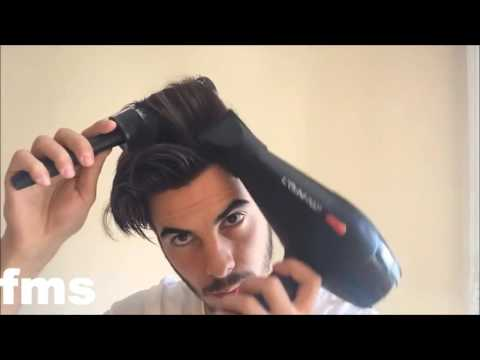 men's haircut - tutorial hairstyle - pompadour