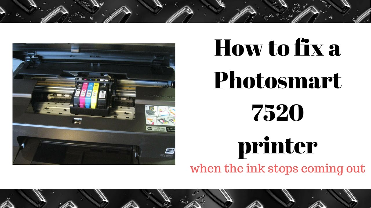 How To Fix A HP Photosmart Printer 7520 Not Printing