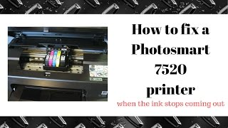 how to fix a hp photosmart printer 7520 not printing black ink and missing colors