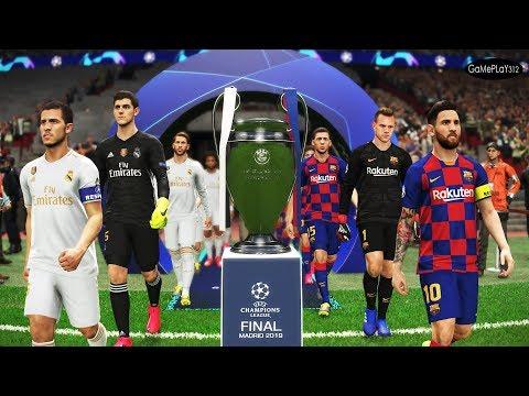 Barcelona Vs Real Madrid - Final UEFA Champions League 2020 UCL - Messi Vs Hazard - PES 2019