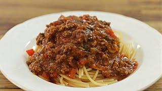 מתכון לספגטי ברוטב עגבניות ובשר