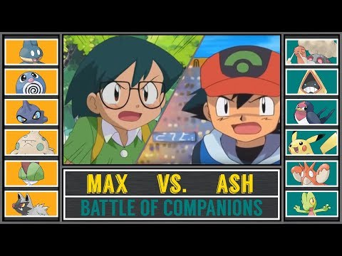 Ash vs Max Pokémon SunMoon  Battle of Comanions
