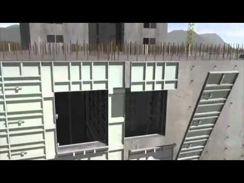cast in place concrete aluminum forms system high rise apartment