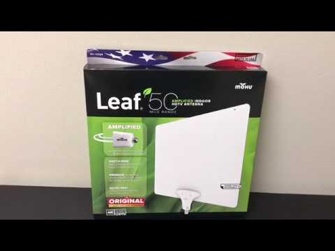 Leaf 50 mile range Amplified Indoor HDTV Antenna by MoHu