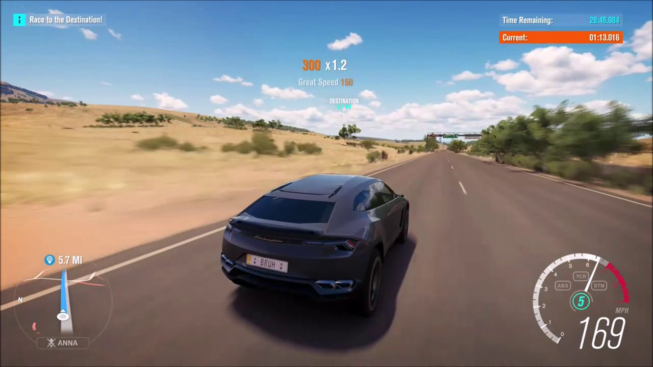 forza horizon 3 lamborghini urus top speed run - Lamborghini Urus Top Speed