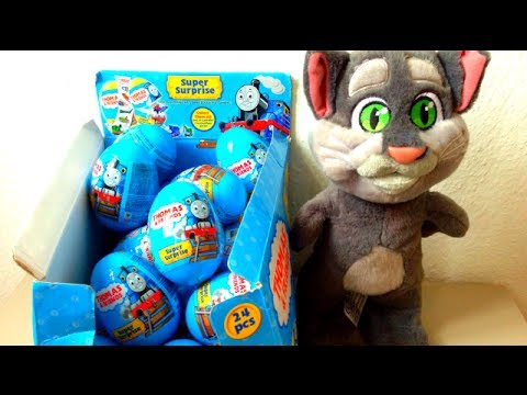 Talking Tom open 3 Thomas And Friends Surprise Eggs