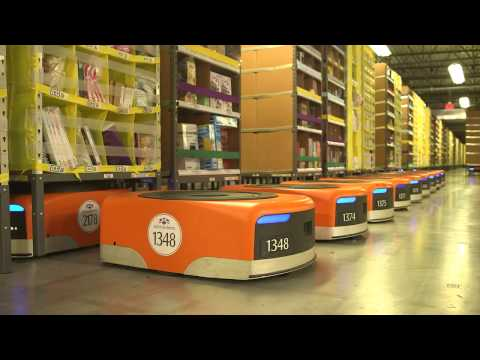 Amazon warehouse robots
