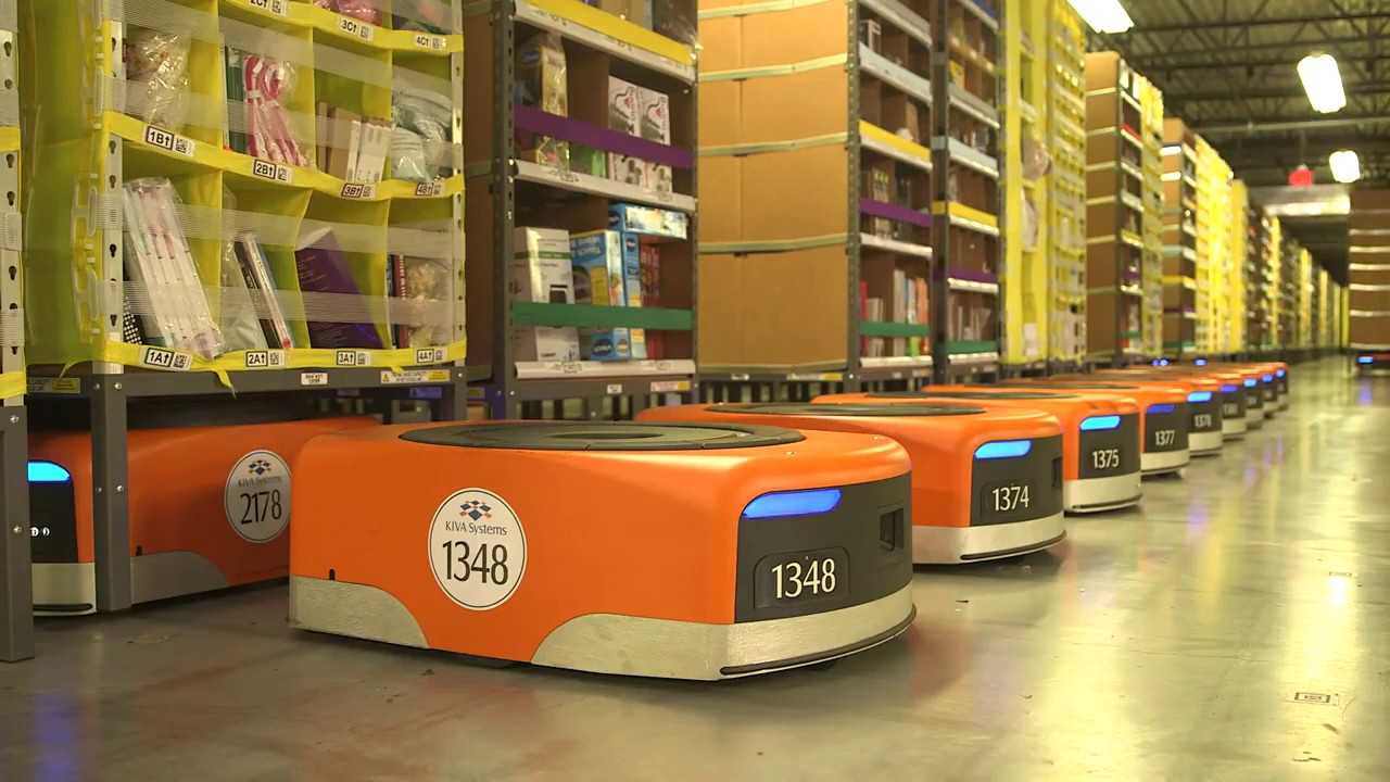 Amazon Warehouse Robots Youtube