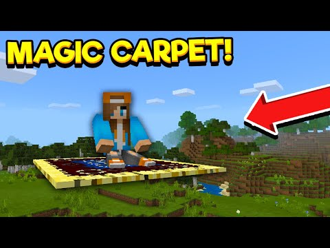 How To GET A MAGIC CARPET In Minecraft Pocket Edition! (Addon)