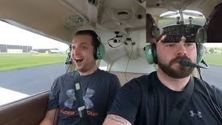 My friend does not know I'm a pilot, and I take the plane!