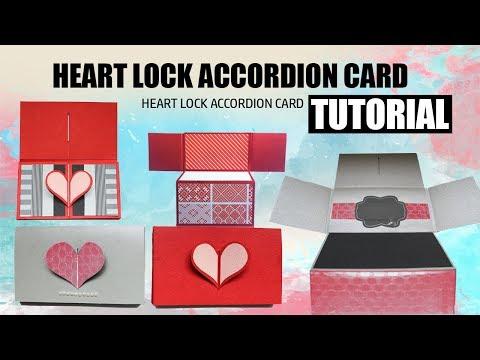 Heart Lock Accordion Card Tutorial