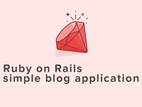 Ruby on Rails: create a simple blog application part 1