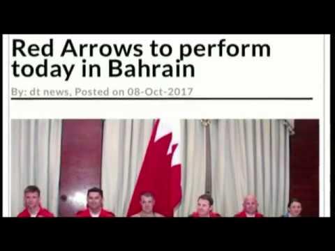 Air Show Red Arrows United Kingdom Air force Aerobatic team at Bahrain