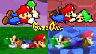 Evolution of Mario & Luigi Series DEATHS and GAME OVER Screens (2003-2017)