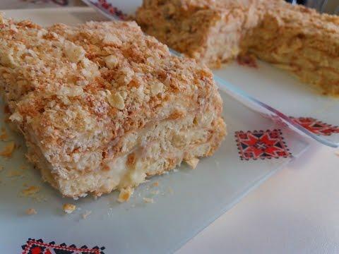 Торт Без Выпечки ЛЕНИВЫЙ НАПОЛЕОН. Простой и вкусный торт