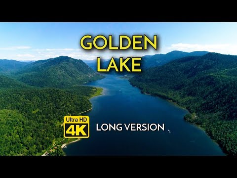 GOLDEN LAKE ★ 4K Nature ✈Drone Footage (Long ver.) w/ Relax Music ➽ Meditate,Yoga,Sleep,Spa